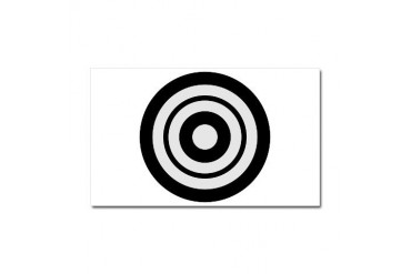 Kyudo target Sports Car Magnet 20 x 12 by CafePress