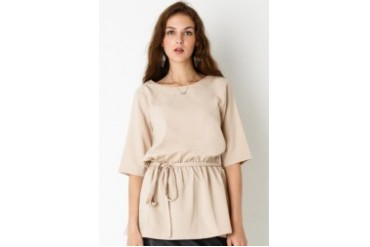 Zoe 3/4 Sleeve Blouse with Tie