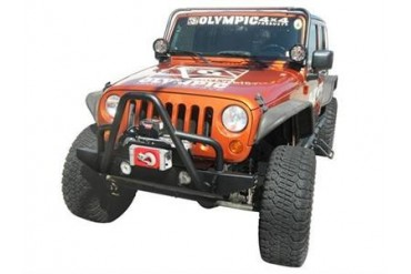 Olympic 4x4 Products Boa Rock Bumper in Gloss Black 572-171 Front Bumpers