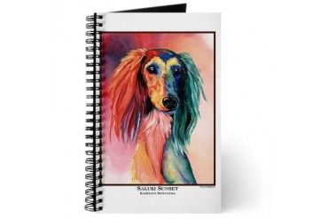 Saluki Sunset Painting Design Pets Journal by CafePress