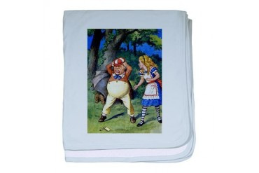 Alice and Tweedle Dum Baby baby blanket by CafePress