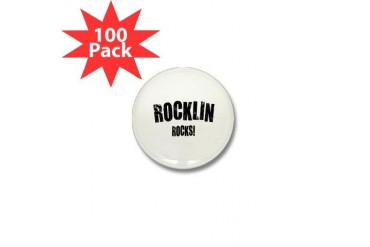 Rocklin Rocks California Mini Button 100 pack by CafePress