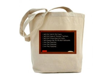 I Am The Teacher Funny Tote Bag by CafePress