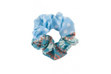 Polka and Floral Prints Scrunchie
