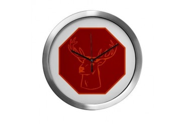 buck stops here Vintage Modern Wall Clock by CafePress