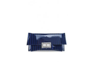 Embellish Striped Clutch