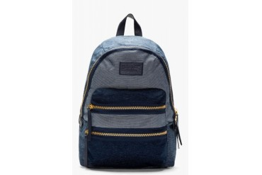 Marc By Marc Jacobs Navy Domo Arigato Chambray Packrat Backpack