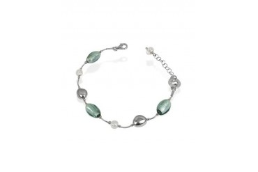 Babylon - Murano Glass Bead Sterling Silver Bracelet