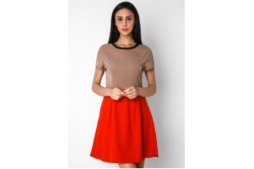 Urban Twist Blocking Tone Dress