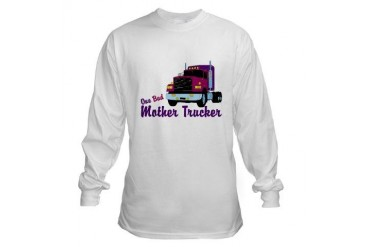 One Bad Mother Trucker Funny Long Sleeve T-Shirt by CafePress 4960a575cde0
