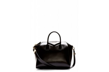 Givenchy Black Leather Medium Antigona Duffle Bag