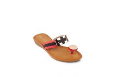 Noveni Sandals with Red Stripes