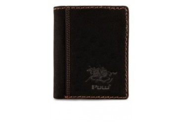 Polo Contrast Stitching Detail Leather Wallet