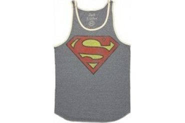 DC Comics Superman Vintage Logo Ringer Jack of All Trades Tank Top