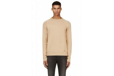 Dsquared2 Camel Wool Knit Sweater