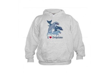 Dolphin Family and Text Kids Hoodie