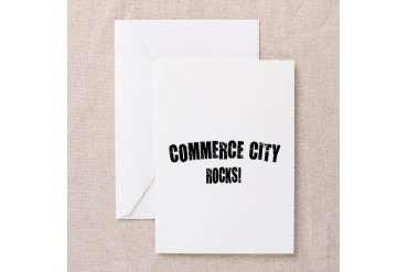 Commerce City Rocks Colorado Greeting Card by CafePress