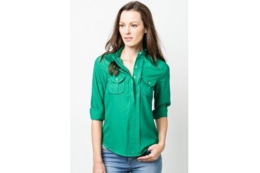 Corinne Long sleeve collared blouse