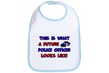 Future Police Officer Police Bib by CafePress
