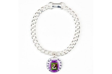 Pround Mom of a Bully Breed Charm Bracelet, One Ch Pitbull Charm Bracelet, One Charm by CafePress