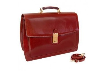 Cognac Leather Briefcase