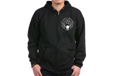 pentagram devil rock skull Skull Zip Hoodie dark by CafePress