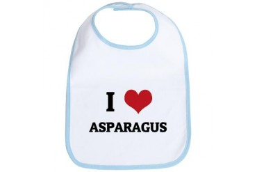 I Love Asparagus Health Bib by CafePress