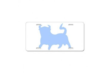 Blue Bull Funny Aluminum License Plate by CafePress