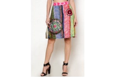 Lorenane Printed Knee Length Skirt