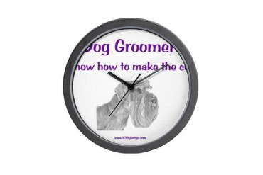 Groomers Make the Cut Dog Wall Clock by CafePress