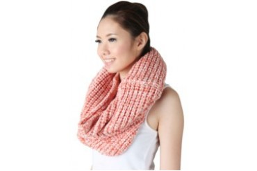 Noir Sur Blanc Red Ladies scarf