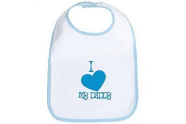 I Love My Daddy Baby Boy Baby Bib by CafePress