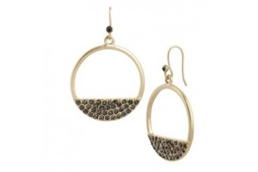 Pavpen Circle Drop Earring