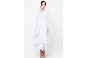 Chanira Dress Tulle U Long Sleeves