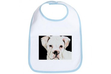 White Boxer Head Pets Bib by CafePress