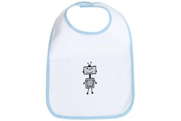 Boy robot Robot Bib by CafePress