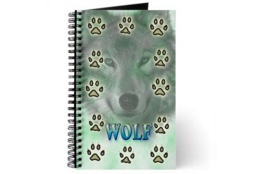 Gray Wolf Animal Journal by CafePress