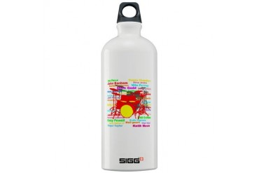 Drum 2 Music Sigg Water Bottle 1.0L by CafePress
