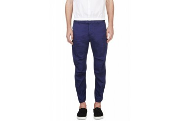 Dsquared2 Blue Twisted Seam Cropped Trousers