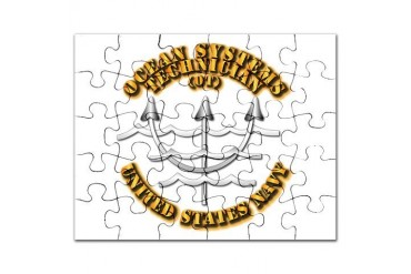Navy - Rate - OT Navy Puzzle by CafePress