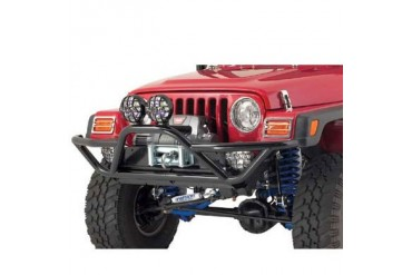 Smittybilt SRC Front Grille Guard Bumper with D-ring Mounts 76721 Front Bumpers