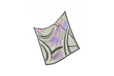Winter Capri - Printed Silk Square Scarf