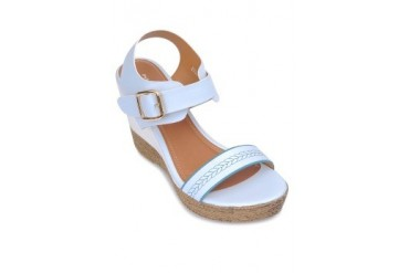 White Wedges Sandals