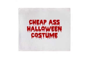 Cheap Ass Halloween Costume Stadium Blanket Funny Throw Blanket by CafePress