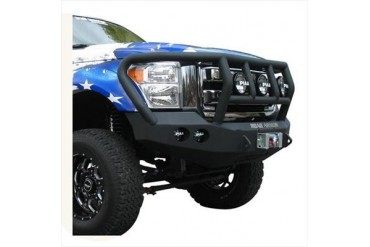 Road Armor Front Stealth Winch Bumper with Titan II Guard in Satin Black 61102B Front Bumpers