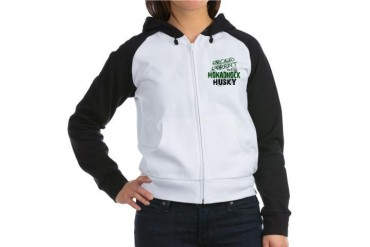 Proud Parent of a Monadnock Husky Women's Raglan H Love Women's Raglan Hoodie by CafePress