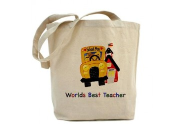 Worlds Best Teacher Cute Tote Bag by CafePress