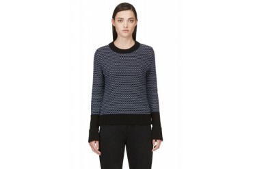 Rag And Bone Black Knit Sabina Crewneck
