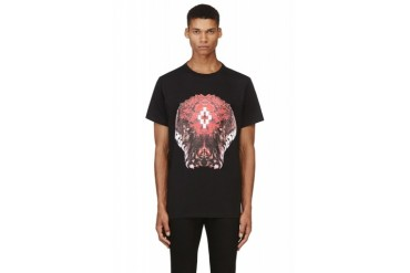 Marcelo Burlon County Of Milan Black And Red Cobra Print T shirt