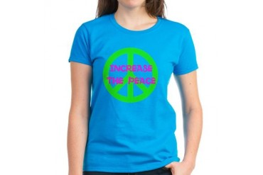 Increase The Peace - Peace Women's Dark T-Shirt by CafePress